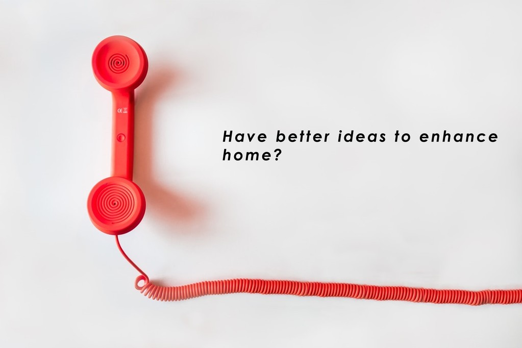"""""""have better ideas to enhance home?"""" contact form featured image"""