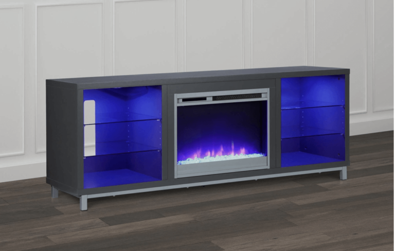 Ameriwood Lumina Electric Fireplace TV Stand Featured Image