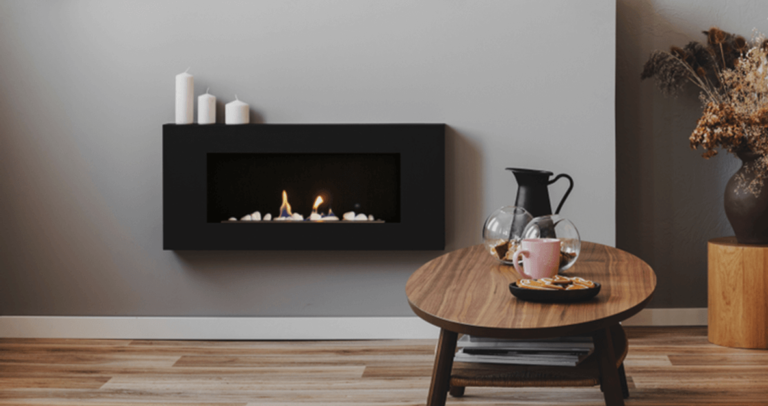 Wall mounted electric fireplace example image