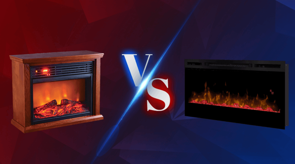 Electric Fireplace vs infrared fireplace comparison featured image