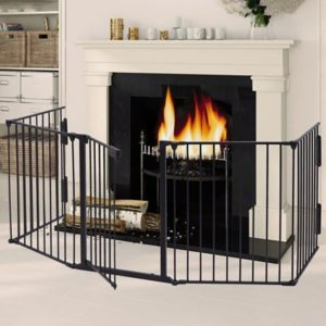 heater fence to prevent dog from getting too near fire