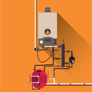 Image of an animated oil fuel heater