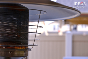 Image of patio heater to illustrate example for radiant heater